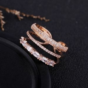 NEW Rose Gold Triple Stackable Adjustable Ring